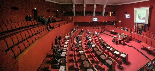 Sala rossa consiglio comunale