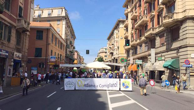 Festa Civ Cornigliano bancarelle mercato fiera