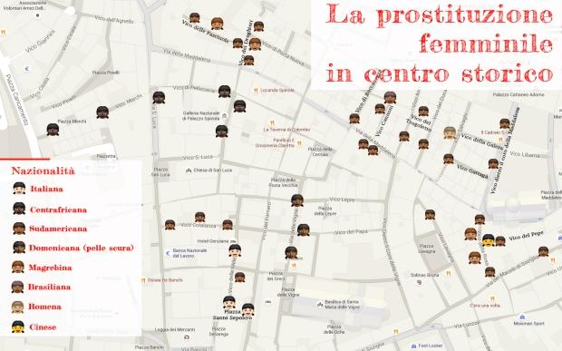 mappa prostitute