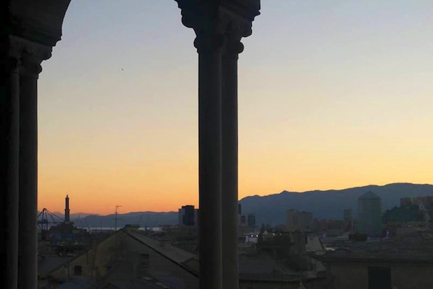 tramonto torri cattedrale