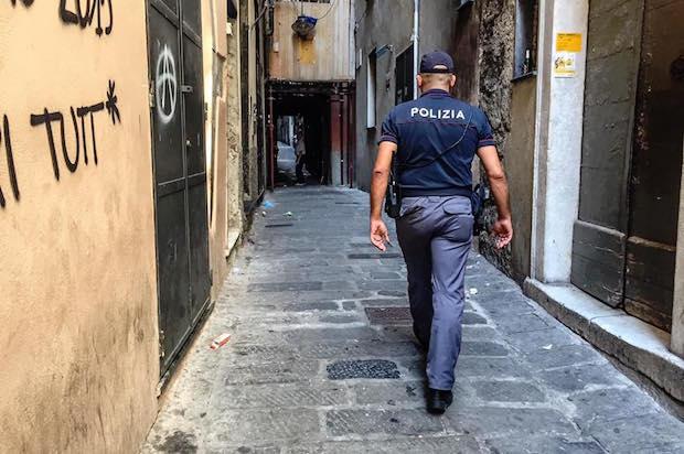 polizia ghetto centro storico