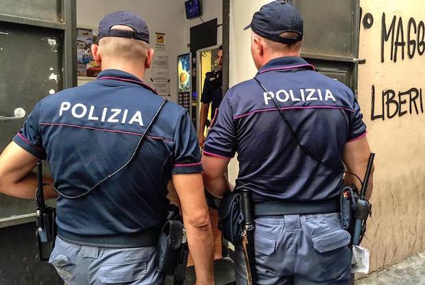 polizia lavanderia ghetto