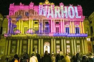 Videomapping Warhol Palazzo Duale